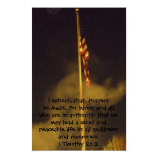 Prayers for Peace 1st Timothy 2 1 - 2 Poster