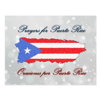 Prayers for Puerto Rico Postcard