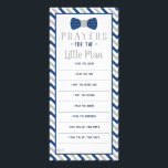 """Prayers for the Little Man, Navy Blue, Gray Rack Card<br><div class=""""desc"""">Do you have a little one being baptized or dedication? Ask guest to send the little man prayers in hope for a beautiful future.</div>"""