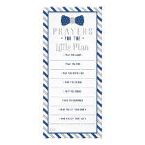 Prayers for the Little Man, Navy Blue, Gray Rack Card