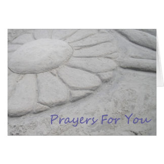 Prayers For You - Sand Flower Card