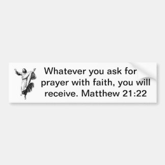 Prayers In Faith (with Picture) Car Bumper Sticker