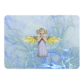Praying Angel 5x7 Paper Invitation Card