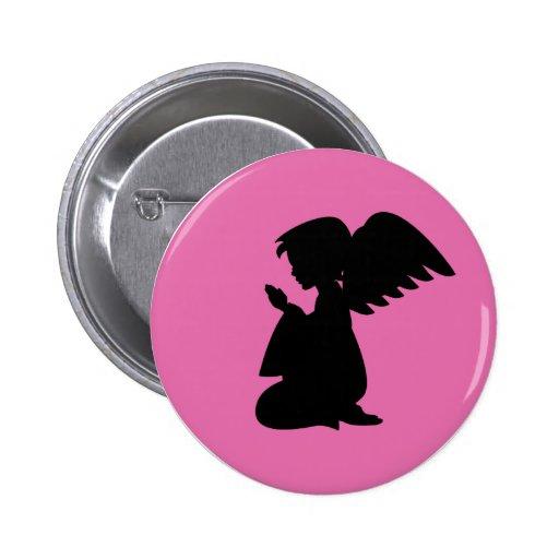 Praying Angel Button Badge