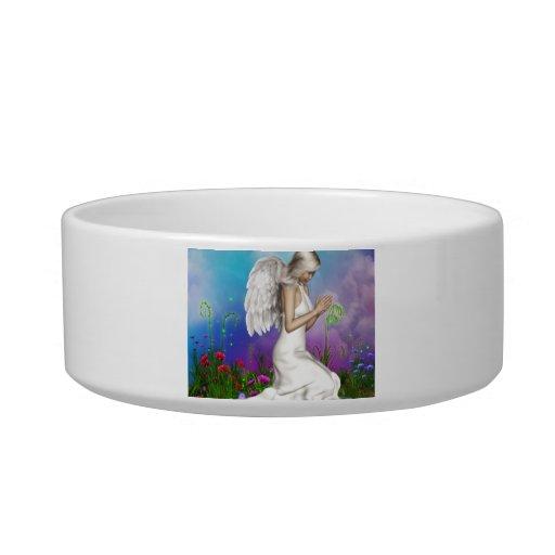 Praying Angel Cat Water Bowls
