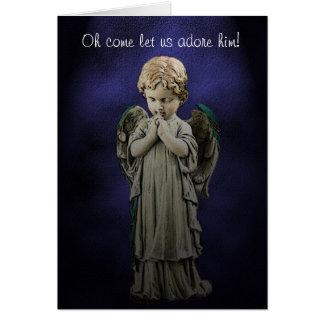 Praying Angel Christmas Card