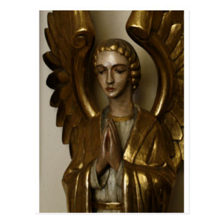 Praying Angel - color Postcard