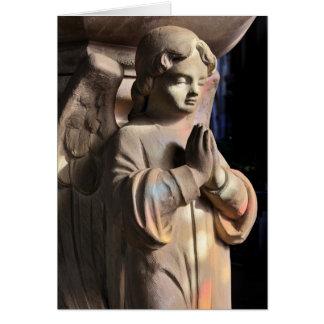 Praying angel Greetings Card