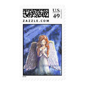 Praying angel II Stamp
