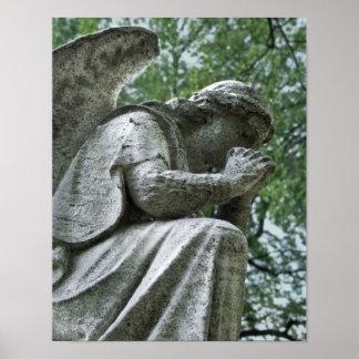 Praying Angel Poster