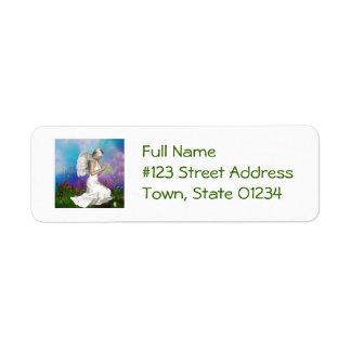 Praying Angel Return Address Label