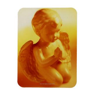 Praying angel statue rectangular photo magnet