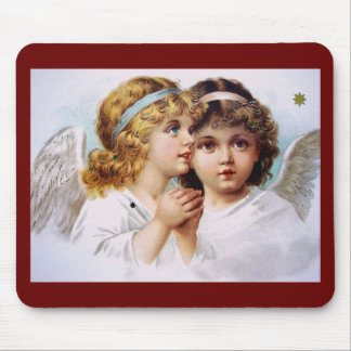 Praying angels children mouse pad