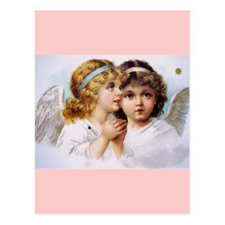 Praying angels children postcard