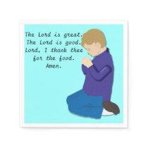 Praying Boy 1 Napkins