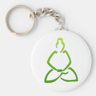 Praying Buddha Basic Round Button Keychain