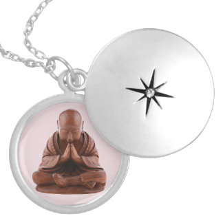 Praying Buddha Locket Necklace