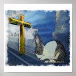 Praying Bunny Poster