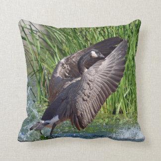 Praying Canada Goose Throw Pillow
