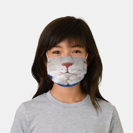 Praying Cat Kids' Cloth Face Mask
