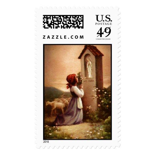 Praying Child 13B Custom Postage Stamp