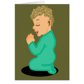Praying Child Blank Card