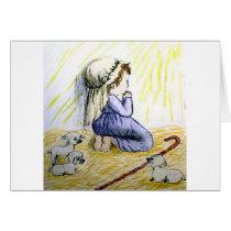 praying child Christmas Card