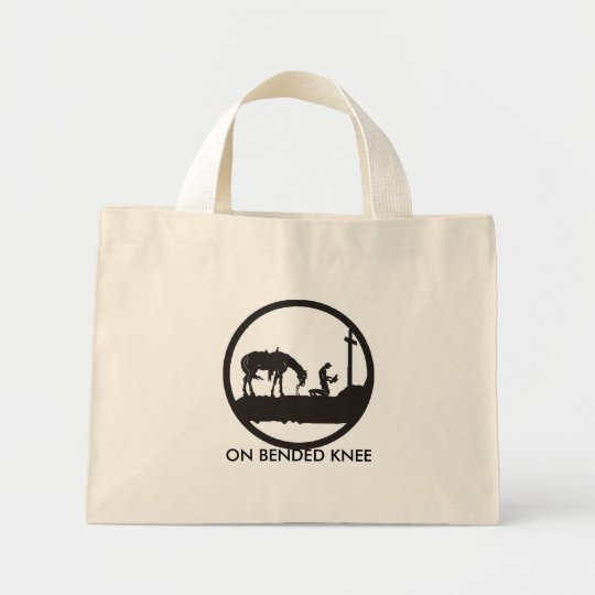 praying cowboy, ON BENDED KNEE Mini Tote Bag