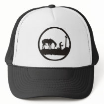 praying cowboy trucker hat