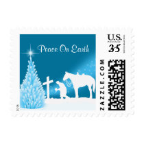 Praying Cowboy Western Christmas Postage