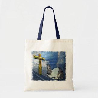 Praying Dutch bunny tote / bag
