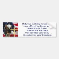 Praying Eagle American Flag Christian Cross Bumper Sticker