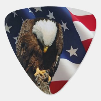 Praying Eagle American Flag Sad Red White Blue Guitar Pick by SterlingMoon at Zazzle