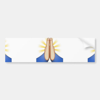 praying emoji car bumper sticker