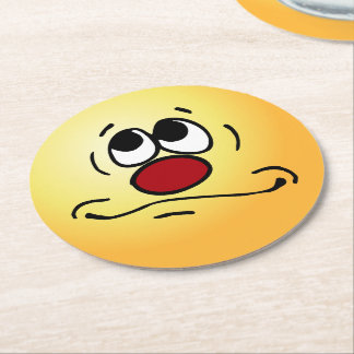 Praying Face: Lord get me out of this hellhole Round Paper Coaster