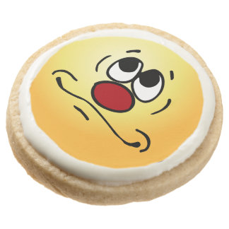 Praying Face: Lord get me out of this hellhole Round Shortbread Cookie