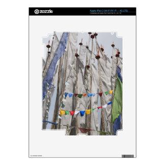 Praying flag poles in mountain, Yotongla Pass 2 iPad 3 Decal