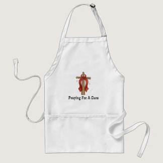 Praying For A Cure Adult Apron
