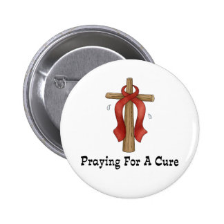 Praying For A Cure Pinback Buttons