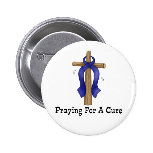 Praying For A Cure Button
