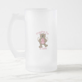 Praying for a Cure Frosted Glass Beer Mug