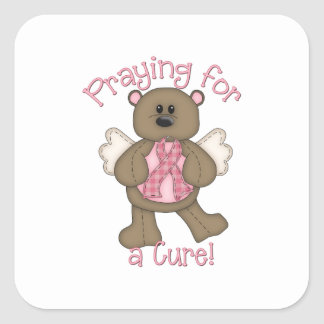 Praying for a Cure Square Stickers