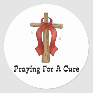 Praying For A Cure Stickers