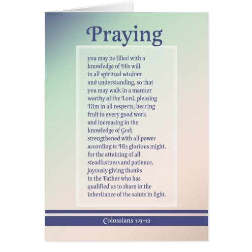 Praying For You Greeting Card Zazzle