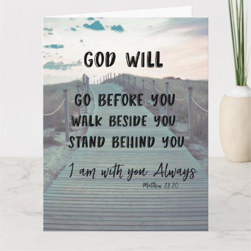 Praying for You Inspirational Christian Card