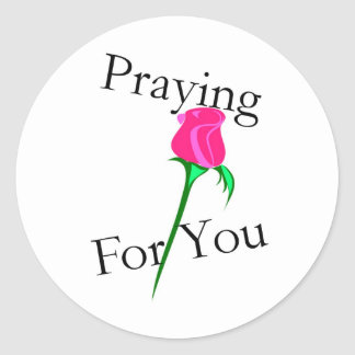 Praying for you sticker