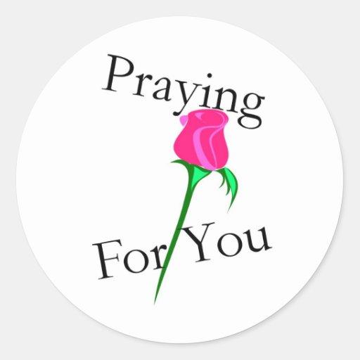 Praying for you sticker