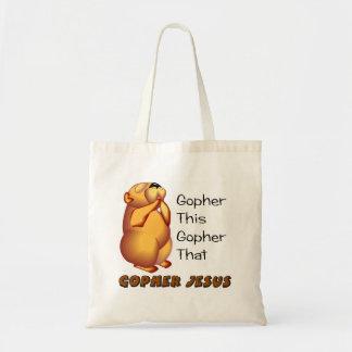 Praying gopher Christian design Canvas Bag