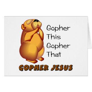 Praying gopher Christian design Greeting Card