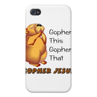 Praying gopher Christian design iPhone 4 Covers